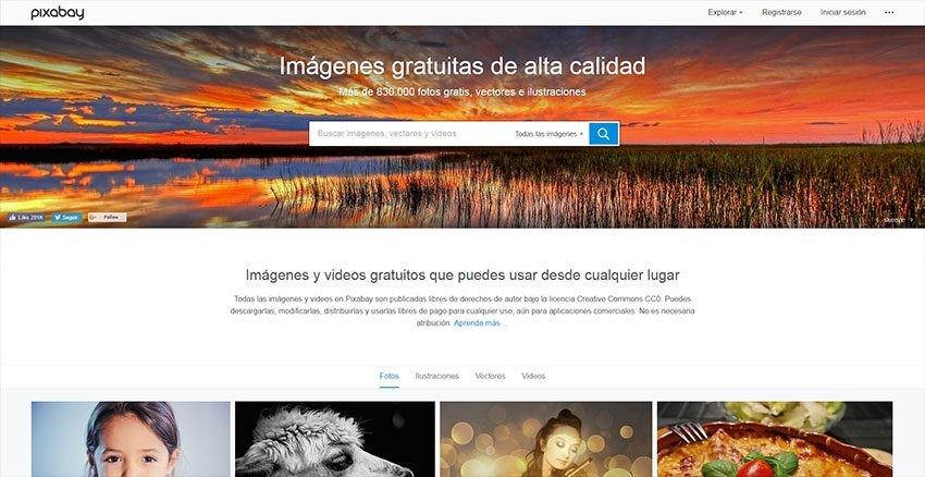 pixabay bancos de imágenes